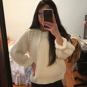 Forever 21 Hooded Knit Sweater